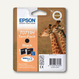 Epson Tintenpatronen T0711H schwarz, Doppelpack, C13T07114H10 - Vorschau