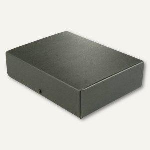Dokumentenmappe DIN A4, Druckknopf, 80 mm bis 780 Blatt, Karton 350 g/m², schwar