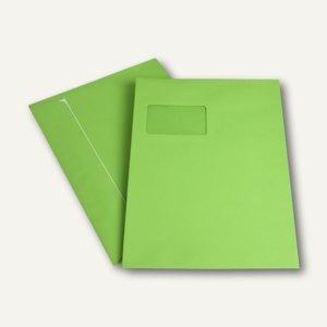 Versandtasche DIN C4, Fenster, haftkl., 120 g/m², intensivgrün, 250 St., 2058062