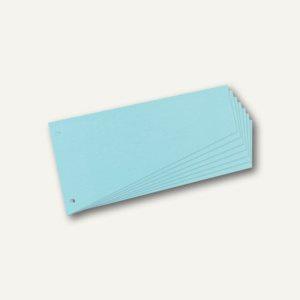 Herlitz Trennstreifen Trapez, 120 x 230 mm, blau, 100er Pack, 10836526