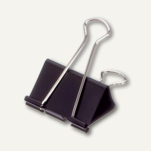 "Foldback-Klemmer "" mauly 215"", (B)19 mm, Klemmweite: 7 mm, schwarz, 20x 12 St."