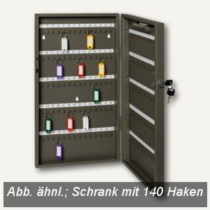 Alco Schlüsselschrank mit 140 Haken, 270 x 515 x 52 mm, lichtgrau, 89633