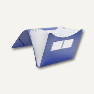 FolderSys Fächermappe A4, PP, 12 Taschen, blau, 10 Stück, 70009-40