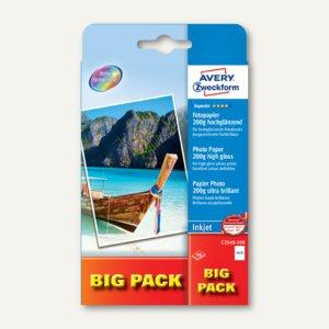 Avery Zweckform Fotopapier Big Pack, 10 x 15 cm, 200 g/m², 2x50 Blatt, c2549-100