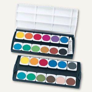 Herlitz Deckfarbkasten, 24 Farben und 7, 5 ml Deckweiß, 10199933