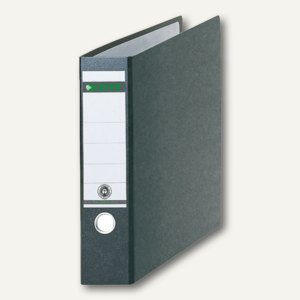 LEITZ Ordner für DIN A3 quer, 318 x 480 mm, Rücken 80 mm, schwarz, 1073-00-00