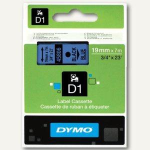 Dymo D1 Etikettenband, 19 mm x 7 m, schwarz auf blau, S0720860