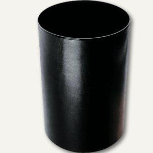 Läufer Monza Papierkorb aus Lederfaserstoff, Ø 21.5/24.5 cm, schwarz, 36886 - Vorschau