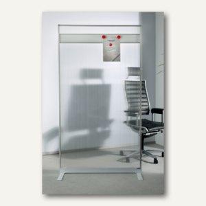 Raumteiler/Viren-Schutzwand mit Acryl-Oberfläche u. Magnetleiste, 180 x 100 x 35