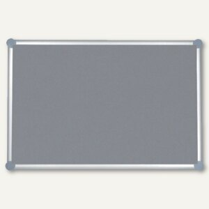 MAUL Pinnboard 2000, Textil, 60 x 90 cm, pinnfähig, grau, 6293484