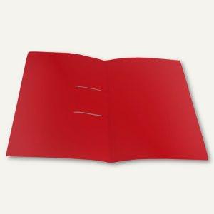 Schnellhefter UNO, DIN A4, Stripbinder, PP, 30 Blatt, rot-transparent, 25 Stück
