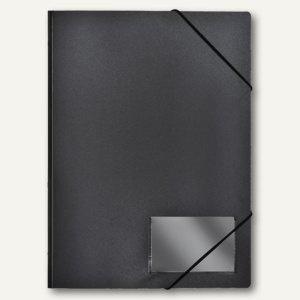 FolderSys Eckspannmappe für DIN A4, PP, schwarz, 40 Stück, 1000430
