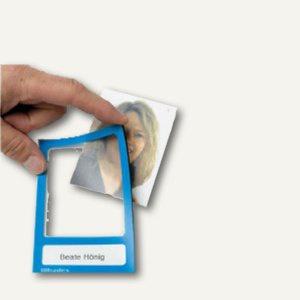 Ultradex Fototaschen ohne Rücken, magnethaftend, 70 x 113 mm, blau, 887107