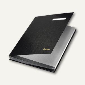 Bene Unterschriftenbuch DIN A4, Kunststoff, 18 Fächer, schwarz, 76400 SW