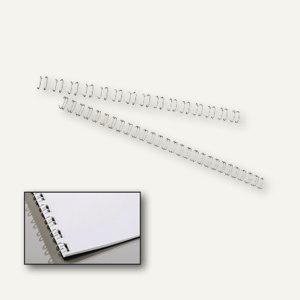 GBC WireBind Drahtbinderücken, 21 Ringe, Ø 10 mm, silber, 100 Stück, IB160837