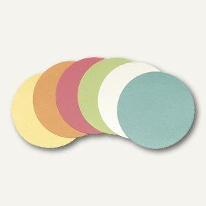 """officio Moderationskarten """" Kreis"""", Ø 19.5 cm, farbig sortiert, 250 Stück"""