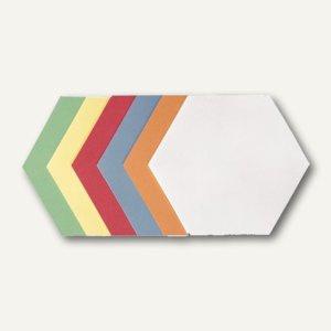 Franken Moderatorenkarten - Wabe, selbstklebend, 6 Farben, 300 St., UMZS 1719 99