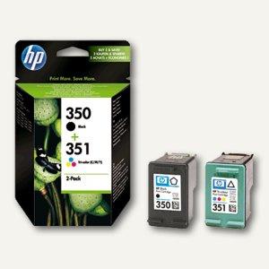 HP Tintenpatronen Multipack, schwarz (350)+ farbig (351), 2 Stück, SD412EE