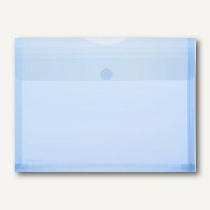 Dokumententaschen - DIN A4 quer, Dehnfalte 30 mm, blau, 100St., 40105-44