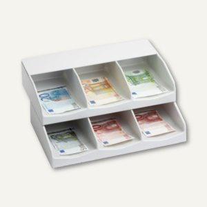 Banknotenfach-Kombination B 30/B 30 A, 30x25.5x13 cm, Kunststoff, 6 Fächer, grau