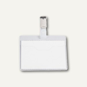 Durable Namensschild Security mit Clip, 90 x 60 mm, transp., 25 Stück, 8106-19