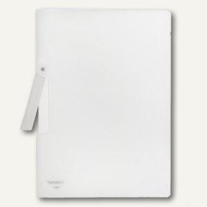 FolderSys Klemm-Mappe A4, PP, bis 50 Blatt, transparent, 40 Stück, 13001-04