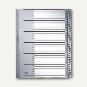 LEITZ Kunststoff-Register für DIN A4 Überbreite, Zahlen 1-31, grau, 1281-00