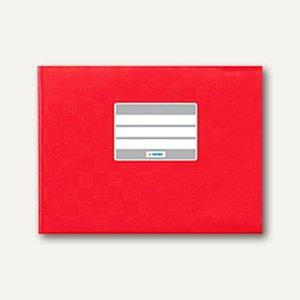 Herma Heftschoner DIN A5 quer, PP, rot gedeckt, 50 Stück, 7412