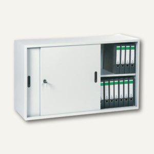 officio Schiebetürenschrank, 120x75x42 cm, 1 Boden, lichtgrau, ST2D01