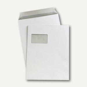Versandtasche C4 mit Fenster, 229 x 324 mm, haftklebend, 90 g/m², weiß, 250 St.