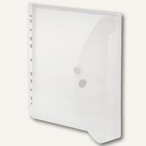 Umschlag, A4, PP, Abheftstreifen, Dehnfalte 20mm, transparent, 50 St., 40109-04