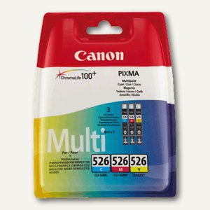 Canon Tintenpatronen CLI-526 MultiPack für IP 4850, C, M, Y, 4541B009