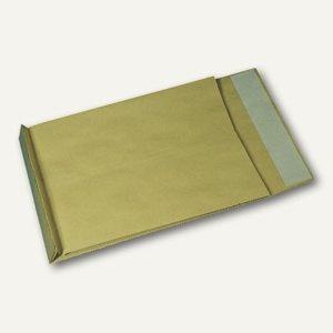 Faltentaschen E4, 40mm Falte, haftklebend, ohne Fenster, braun, 100 St., 490341