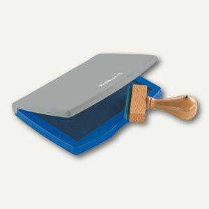 Pelikan Stempelkissen Gr. 2, 7 x 11 cm im Kunststoff-Gehäuse, blau, 337709