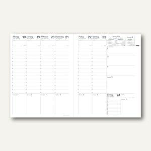 Trinote Club Terminkalender - 18 x 24 cm, 1 Woche/2 Seiten, schwarz, 48068Q