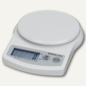 MAUL Briefwaage MAULalpha mit Batterie, Tragkraft 2000 g, weiß, 1642002
