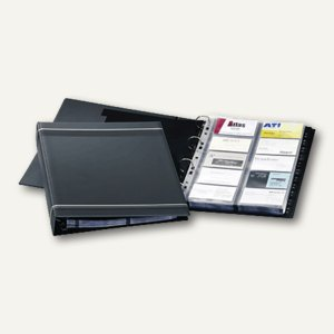 Durable Visifix Visitenkartenringbuch für 400 Karten, anthrazit, 2388-58