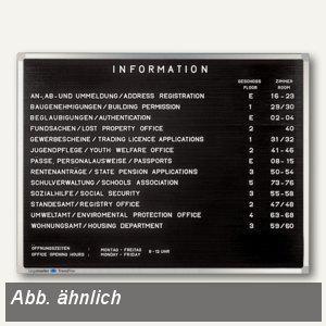 Rillentafel Premium, H 30 x B 40 cm, Querformat - Vorschau