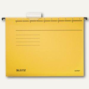 LEITZ Alpha Hängemappe für DIN A4, gelb, 25er Pack, 1985-00-15