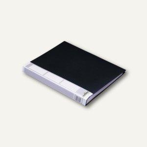 Sichtbuch DURALOOK A4, 50 Hüllen, Rücken 30 mm, Rückenschild, schwarz, 2 Stück