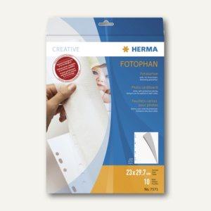Herma Fotokarton, 230 x 297 mm, 220g/m², weiß, 10 Blatt, 7571