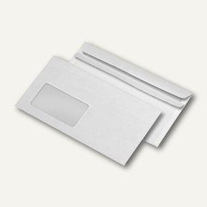 Briefumschläge DIN lang, Fenster, selbstklebend, 75 g/m², weiß, 1.000 St.