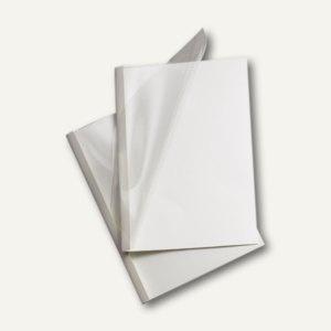 GBC Thermobindemappe DIN A4, Rücken 3 mm, weiß-glänzend, 100 Stück, TC080370