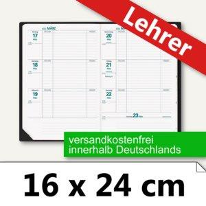 Lehrerkalender Texthebdo Club - 16 x 24 cm, 1 Woche/2 Seiten schwarz, 296036Q