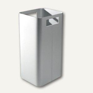 officio Papierkorb aus eloxiertem Aluminium, 22, 5 x 22 x 45 cm, 20 Liter