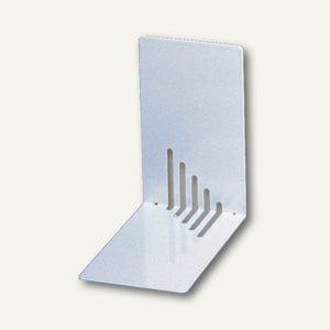 MAUL Buchstützen Metall, schmal, 14 x 8, 5 x 14 cm, silber, 3 Paar, 3501095