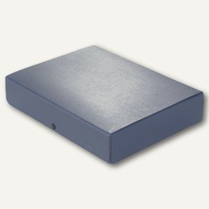 Dokumentenmappe DIN A4, Druckknopf, 60 mm bis 580 Blatt, Karton 350 g/m², blau