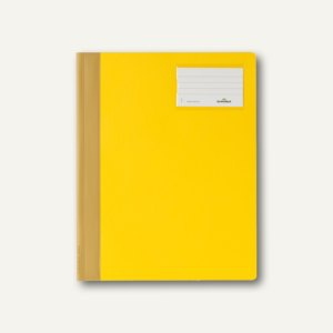 Durable Schnellhefter DIN A4+, mit Beschriftungsfenster, gelb, 25 St., 2500-04