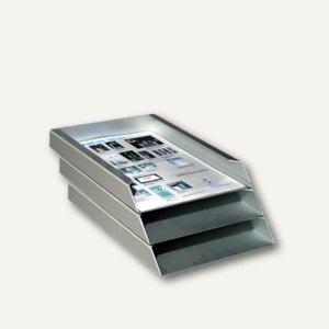 Briefablage DIN A4, aus eloxiertem Aluminium - 305 x 230 x 110 mm, 3er Set