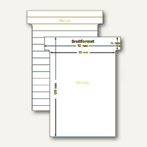 Ultradex T-Karten, liniert/blanko, Breitformat, weiß, 100 Stück, 541158